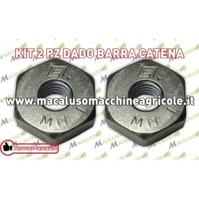 Kit 2 dado coperchio barra catena motoseghe Stihl Art.00009550801 viti