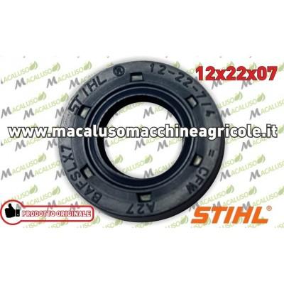 Paraolio albero motore BG BR FS SH Stihl 12x22X7 anello di tenuta 96390031230