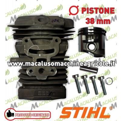Cilindro con pistone per motosega Stihl MS181 d.38 Art.11390201203