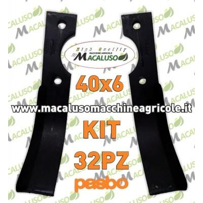 32 Zappette curva universale x motozappa 40x6 zappa zappetta fresa lama kit serie