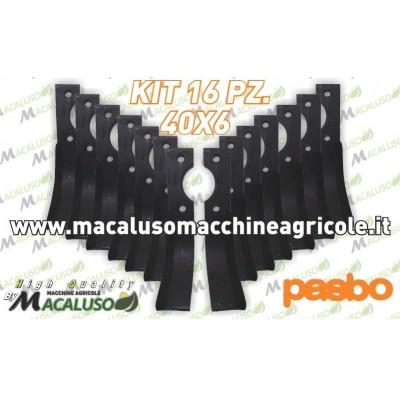 16 Zappette curva x motozappa Pasbo 40x6 zappa zappetta fresa lama kit serie