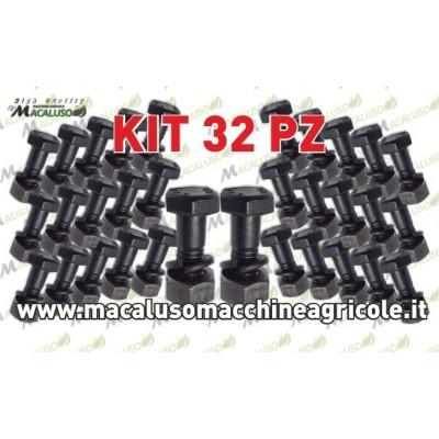 kit 32 Perno dado rondella 10x30 parzialmente filettato zappette motozappa