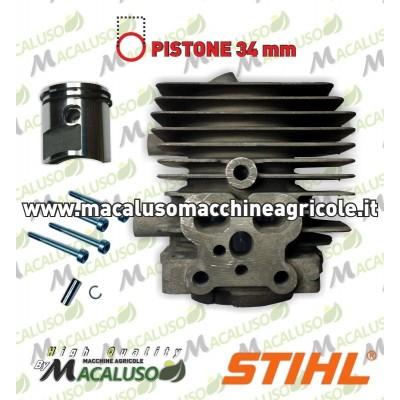 Cilindro pistone Soffiatore Aspiratore Stihl BG86 SH86 D.34 1°serie 42410201200 gruppo termico