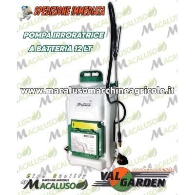 Pompa a spalla disinfestazione igienizzazione a batteria 12V 12 litri irroratore