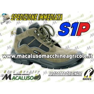 Scarpa art.597N protettiva alta tipo trekking in crosta bovina S1P SRC (aggiungi la misura)