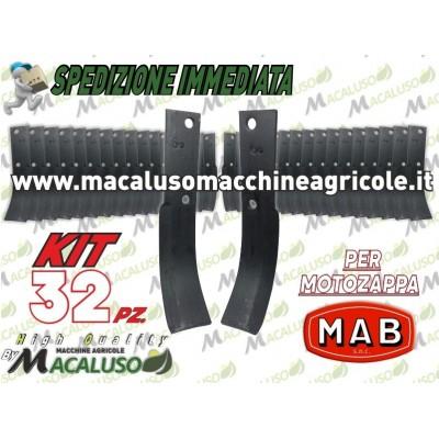 32 Zappette Mab Formica curva x motozappa 40x6 zappa zappetta fresa lama kit serie