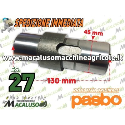 Albero porta corona motozappa Pasbo G72 G73 G83 es.27 asse fresa Sicilzappa Eurogreen Diesse