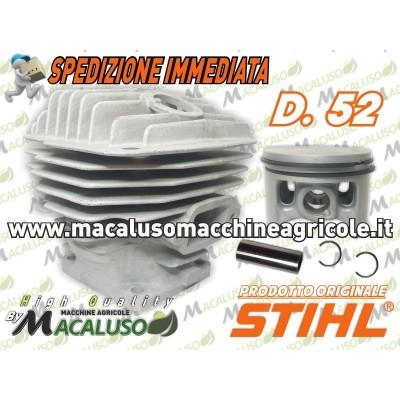 Cilindro pistone motosega Stihl 046 MS460 d.52 gruppo termico 11280201221