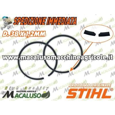Kit 2 fascia elastica D 38 x 1,2 motosega Stihl MS180 MS181 segmento 11300343002