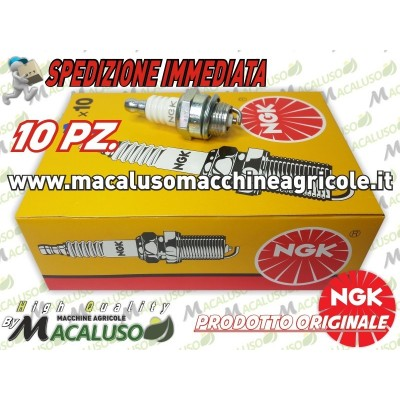 KIT 10 Candela NGK BPM6A 7021 motosega decespugliatore tagliasiepi soffiatore