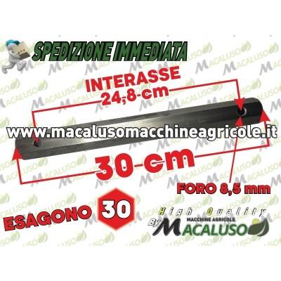 Asse esagonale porta zappette 30 cm esagono 30 motozappa Pasbo G14