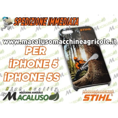 Cover custodia Stihl Smarthphone Apple iPhone 5 e 5s IOS posteriore stampata 04645640005