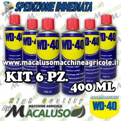 6 Lubrificante multifunzione WD 40 400ml spray miltiuso disincrostante sbloccante