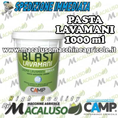Pasta lavamani Camp blast bianca ml 1000 crema detergente con glicerina kg 1