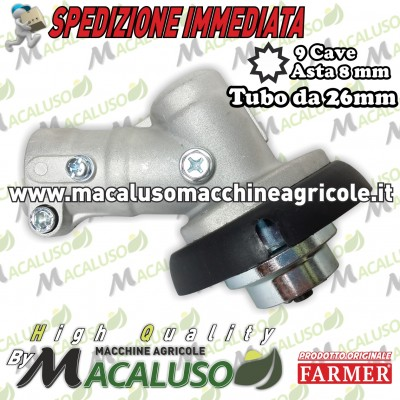 Testina e ingranaggi decespugliatore Farme FA330 FA430 riduttore cambio coppia conica
