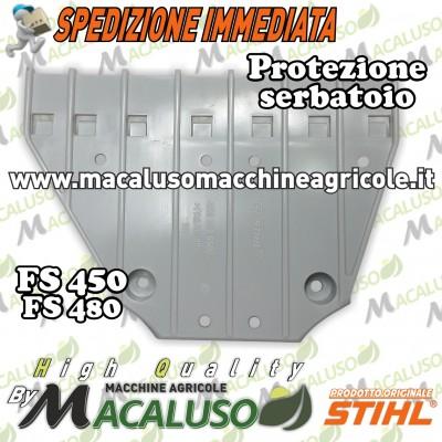 Piastra potezione serbatoio decespugliatore Stihl FS400 FS450 FS480 plastica sotto tanica 41283526500