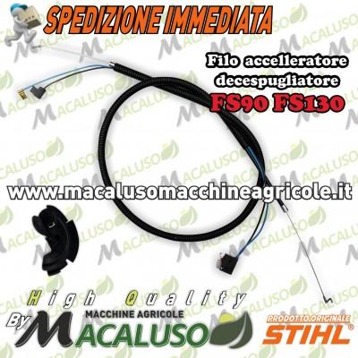 Filo acceleratore decespugliatore Stihl FS90 FS110 FS130 tirante comando gas 41801801151