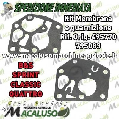 Membrana guarnizione carburatore briggs e stratton sprint classic quattro b&s 495770 795083