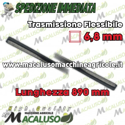 Flessibile x decespugliatore Stihl cm.89,0 quadro mm.6,8 diametro mm.8 nikkari