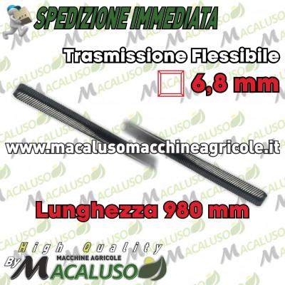 Flessibile x decespugliatore Tanaka cm.98 quadro mm.6,8 diametro mm.8 trasmissione mm 980