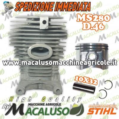 Cilindro pistone motosega MS280 d. 46 gruppo termico spinotto 10 11330201202