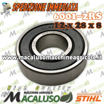 Cuscinetto 6001-2RS testina decespigliatore Sthil FS120 FS130 FS250 pignone coppia conica 95030035190