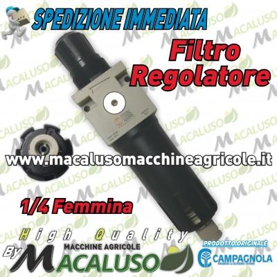 """Filtro condensa regolatore pressione 1/4"""" F. riduttore moto compressore Campagnola Hobby Professional kit 0114 0107 8062604"""