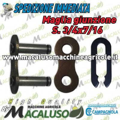 Maglia giunzione S. 3/4 x 7/16 abbacchiatore Olistar Evoluzione Tuono Metal Diablo Golia Campagnola chiusura 01820103