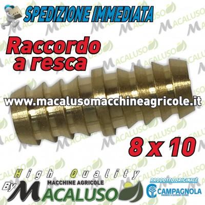Raccordo a resca 8 x 10 riparazione tubo aria compressa compressore motocompressore Campagnola Hobby giunzione 0112 0167