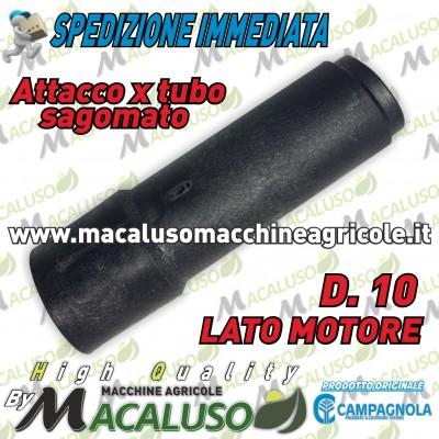 Raccordo in plastica tubo sagomato asta Campagnola R3 R4 mm.10 abbacchiatore sferzatore lato motore 0160 0156
