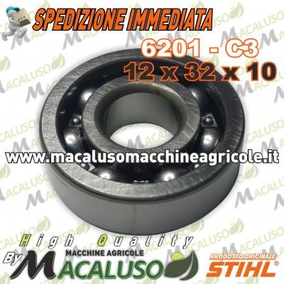 Cuscinetto 6201 C3 albero motore decespugliatore Sthil FS240 FS250 FS450 FS460 FS480 95030030242