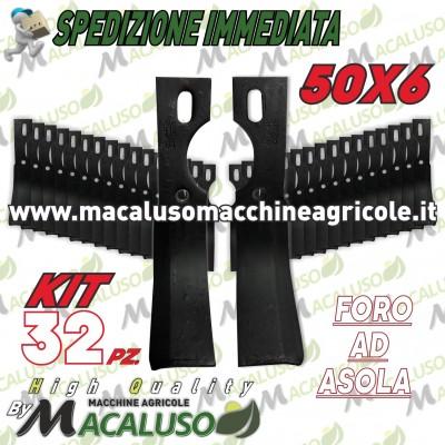 32 Zappette asola curva universale x motozappa 50x6 zappa zappetta fresa lama kit serie