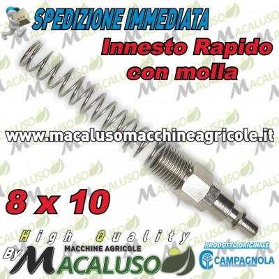 Raccordo rapito Maschio tubo 8 x 10 innesto aria compressa motocompressore Campagnola Hobby Professional con molla 0115 0107