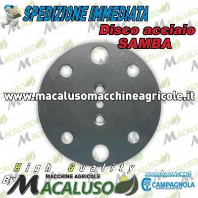 Disco Inox foro 2,5 mm abbacchiatori sferzatrore Campagnola Samba 0156 0118