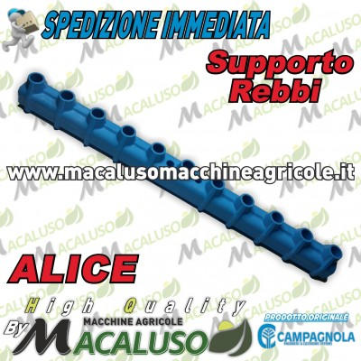 Supporto porta rebbi azzurro abbacchiatori pneumatici Campagnola alice 0108.0236
