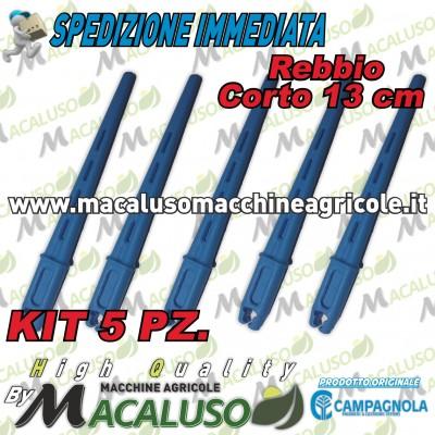 Kit 5 Rebbio corto azzurro abbacchiatore Diablo Elektra Campagnola asta astina 0193 0132 5