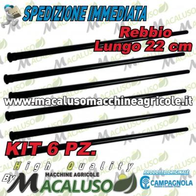 Kit 6 Rebbio lungo nero Cm.22 abbacchiatore Campagnola asta astina 01930125