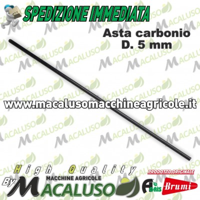 Asta in carbonio per abbacchiatore Olispeed mm.5 L.360