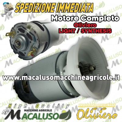 Motore completo di carcassa dentata Oliviero Light, Synthesis art.M005 SL 12V.