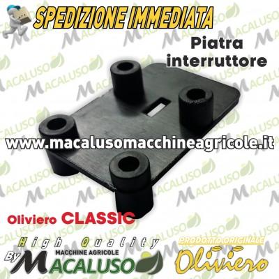 Piastrina blocca interruttore Oliviero classic supporto pulsante avvio M014C