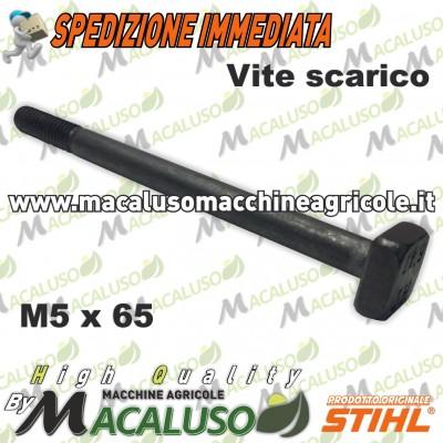 Prigioniero scarico M 5 x 65 Stihl Stihl MS170 MS180 MS230 MS250 Vite fissaggio marmitta 11231481201