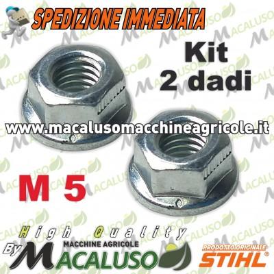2 PZ dado M 5 con rondella incorporata piatta per macchine Stihl 92162610700