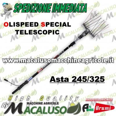 Abbacchiatore scuotitore elettrico Agris Brumi Olispeed Special Telescopic Asta 245 325 cm 700 watt