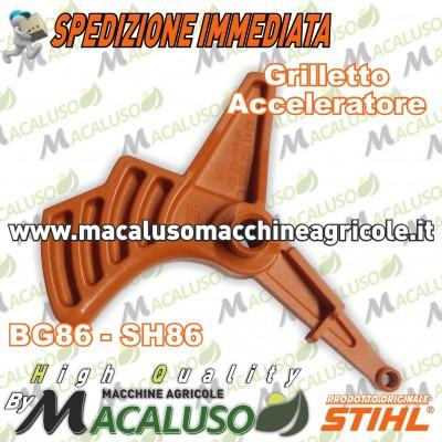 Comando acceleratore soffiatore Aspiratore Stihl BG86 SH86 grilletto gas 42411821001