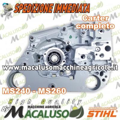 Carter motore completo motosega Stihl MS240 MS260 carcassa albero alluminio 11210202125