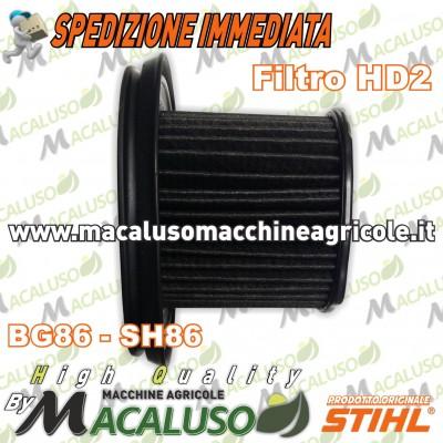 Filtro aria HD2 soffiatore aspiratore Stihl BG56 BG86 SH56 SH86 massa filtrante 42411404403