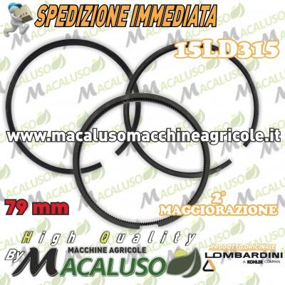 Fasce elastiche motore Lombardini 15LD 315 D.79 2° maggiorazione ORIGINALE Segmenti compressione 8211.229