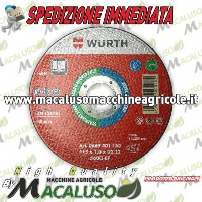 Disco taglio metalli Wurth per flex da mm.115 x 1 foro 22,2 art.0669 401 150