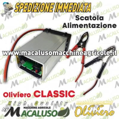 Scatola alimentazione con morsetti batteria abbacchiatore Oliviero Classic Evolution A007 EC