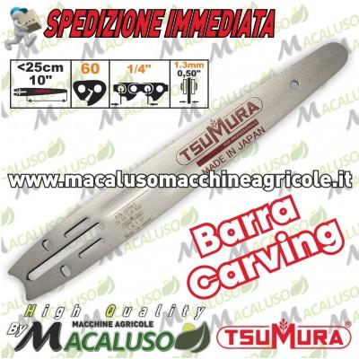 "Barra Carving Tsumura 10"" cm 25 professionale acciaio e stellite pota potatura"